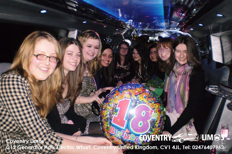 18th Birthday Party Limo Coventry