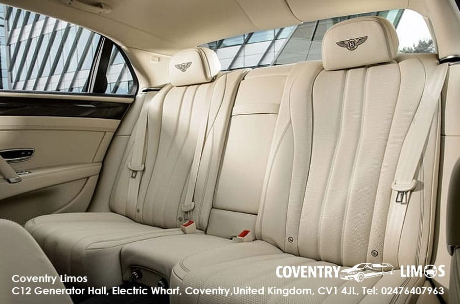 Bentley Flying Spur White Coventry Hire