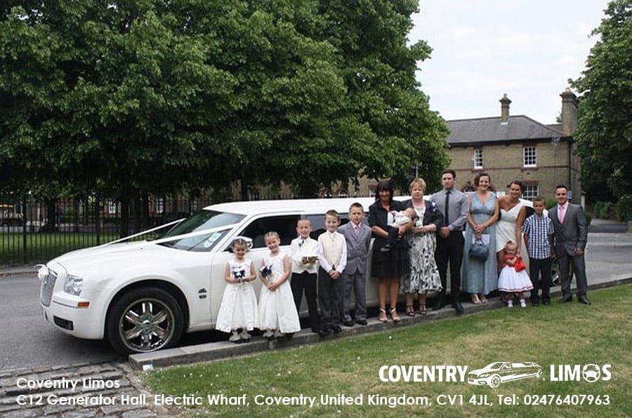 Chrysler Wedding Limousine Hire Coventry