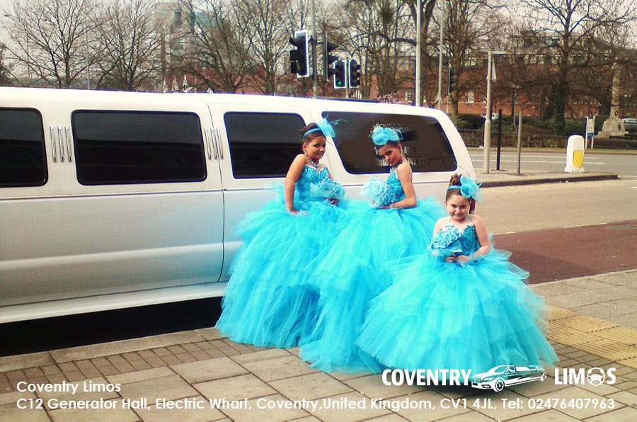 Gypsy Wedding White Limo Coventry