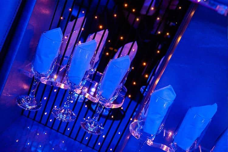 inside of limo blue lights coventry limos