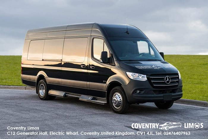 Party Bus Black For Hire Coventry