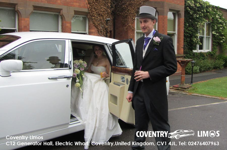 Rolls Royce Phantom Coventry Church Wedding