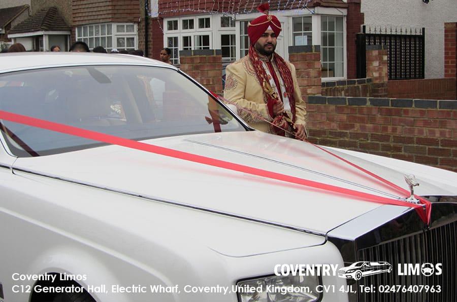 Rolls Royce Phantom Coventry Indian Wedding